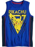Jumping Beans Boys Blue Pokemon Pikachu Muscle Tank Top Shirt Tee Shirt T-Shirt