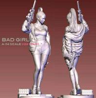 1/24 Bad Girl Resin Model Kits Unpainted Figure Unassembled YuFan Model 75mm