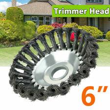 6 Inch Steel Wire Wheel Garden Weed Brush Lawn Mower Head Trimmer Accessories