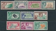 1940-1951 PITCAIRN ISLAND DEFINITIVES SET OF 10 MINT HINGED MH/MM