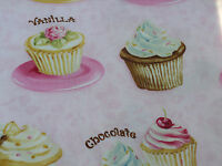 Robert Kaufman Confections Collection by Applejack Art Partners Cupcakes on Pink