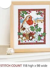WINTER ROBIN -  CROSS STITCH PATTERN  EQ - RYS