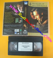 VHS film A BEAUTIFUL MIND 2001 Russell Crowe Ed Harris COLLECTOR'S(F41**)no dvd