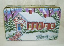 1992 Cross Stitch Design Hinged Tin Box Whitman's Country Cottage