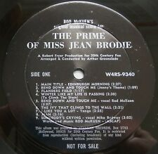 Rod McKuen's The Prime Of Miss Jean Brodie USA 1969 Stanyan/WB Promotional LP