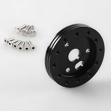 """Black 0.5"""" Hub for 5 & 6 Hole Steering Wheel to Grant 3 Hole Adapter Boss 1/2"""""""