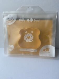 CARE BEARS Yellow ezpz Placemat and Bowl In One Rare Suctions To Table