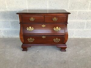 HIGH QUALITY CHERRY BOMBAY STYLE 4 DRAWER NIGHTSTAND