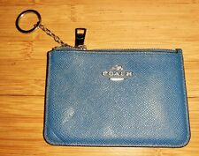 Coach 64732 Key Pouch in Crossgrain Leather Card Case Zippered