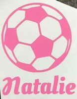 Color Size Personalized Sport Soccer Futbol Name Vinyl Decal Sticker Car Window