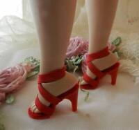 "All Red High Heel Doll Shoes for VINTAGE Elise 15.5"" & 16.5"" inch"