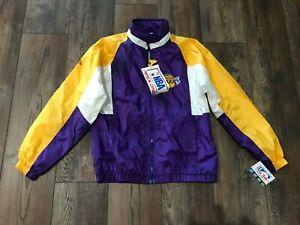 HTF ~Vintage Los Angeles Lakers YOUTH Jacket Size large~nwt~nos~RARE~HONG KONG