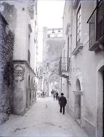 Italia Sicilia c1900, Negativo Foto Stereo Placca Lente VR8L4