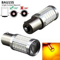 2x 1156 bau15s py21w 33 car stop lamp rear lamp smd led flashing yellow light