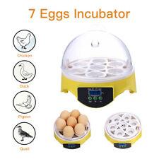 Automatic 7 Eggs Incubator Chicken Smart Hatcher Bird Poultry Machine Brooder