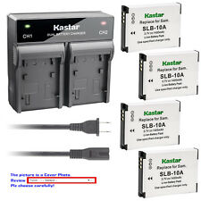 Kastar Battery Rapid Charger for Samsung SLB-10A Samsung P800 P1000 PL50 Camera