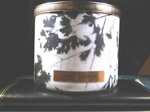 "Bath & Body Works ""SEA SALT & LINEN"" 3 Wick Candle Brand New"