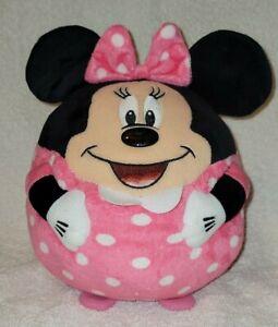 Minnie Mouse Beanie Ballz Round Ball Plush Pillow 2013 TY- EXC STUFFED