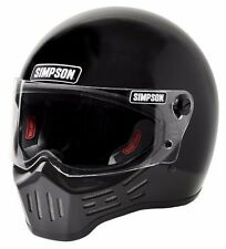 Simpson M30 Bandit Gloss Black Motorycle Full Face Helmet SIZE Large