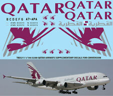 1/144 AIRBUS A380  QATAR AIRLINES LIVERY REVELL  DECALS TB DECAL TBD211