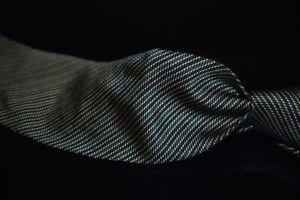Brooks Brothers Makers English Silk Green Indigo Gold Micro Repp Stripe Tie NR