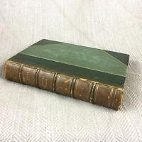 Villette Charlotte Bronte Raro Antico Libro Old Pelle Sottile Rilegatura