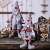 Swedish Christmas Santa Gnome Plush Doll Figurines Toy Xmas Home Party Ornaments