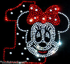 Minnie Mouse 1st Birthday red/clear iron on Disney rhinestone transfer for shirt