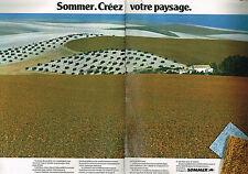 PUBLICITE  1977   SOMMER   tapis moquettes ( 2 pages)