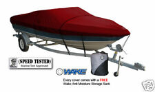 Wake Monsoon Premium Boat Cover Fits Fishing Ski Bass 16-18 FT Red