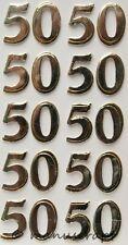 Artoz Artwork 3D-Sticker, Zahlen 50 silber, goldfarben schattiert