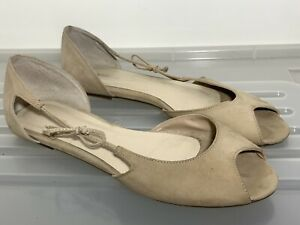 JO MERCER Nude Leather Flats Size 40 (9) #19967