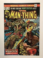 MAN-THING #8  VF+ Ploog Cover & Art -Marvel 1974 Vintage Comic