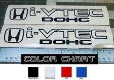 "Honda I-Vtec DOHC Decal Stickers Set of 2 Civic Accord Prelude CRX SI Black 9"""