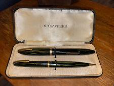 Vintage Sheaffer Fountain Pen 500 & Mechanical Pencil 400 Set in Case Nice