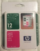 Genuine HP 12 ( C4805A ) Magenta Ink Cartridge Factory Sealed Free Shipping