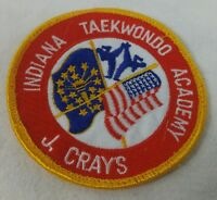 Indiana Tae Kwon Do Academy Sew On Patch J Crays Martial Arts Fight Train Patch