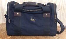Eddie Bauer Black Canvas Leather Trim Weekender Carry On Shoulder Duffel Bag