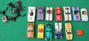 Vintage HO Slot Car Lot Aurora Tycopro Atlas