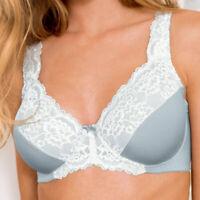 Women's Full Coverage Underwire Non Padded Lace Minimizer Bra Plus Size DDDF G H