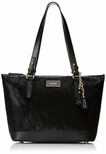 ❤BRAHMIN MEDIUM ASHER BLACK GREENWICH TASSEL TOTE FUR GLOSSY PATENT LEATHER ❤