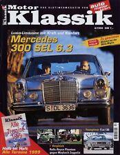 Motor Klassik 4/99 1999 Mercedes 300 SEL 6.3 Rover 75 Fiat 130 Goliath Baur BMW