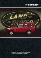 Prospekt Land Rover Discovery 1989 4 S. D brochure Autoprospekt Geländewagen Pkw