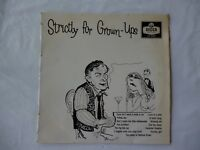 Strictly For Grown-Ups Incredibly Rare New Zealand 10 inch LP- Vinyl  Near Mint