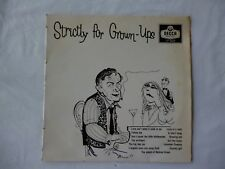 """Strictly For Grown-Ups-Rare 10"""" New Zealand LP Vinyl Near Mint"""