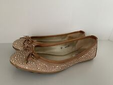 AUTHENTIC JIMMY CHOO WEBER CRYSTAL STUD SUEDE BALLERINA FLATS SHOES SZ 37 $700+