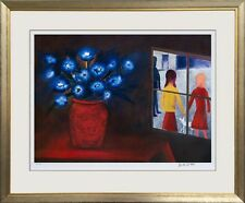 """CHARLES BLACKMAN-LIMITED EDITION ARCHIVAL PRINT-""""BLUE BOUQUET AND WINDOW"""""""