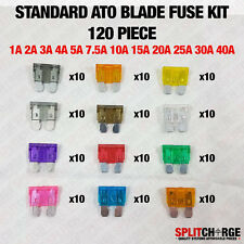 120 Pcs Standard Blade Fuse Assorted Kit Mixed All Amperages ATO Car