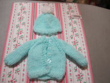 "No Doll Cardigan Sweater & Hat For Ann E. Or Patsy 10"" Doll"