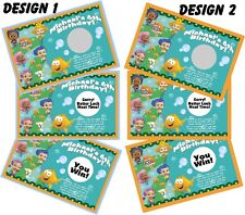 BUBBLE GUPPIES SCRATCH OFF OFFS PARTY GAME GAMES CARDS & BIRTHDAY FAVORS